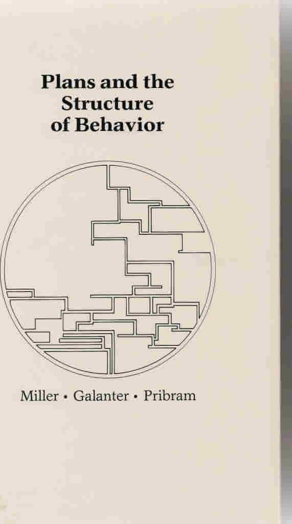 "<h2>Plans and the Structure of Behavior ISBN 0030100755</h2>The notions of a Plan that guides behavior and an Image which is all the accumulated, organized knowledge that the organism has about itself and its world are the central topics of this book. The book explores the relationship between the Image and the Plan, and considers whether cybernetic ideas have any relevance for psychology.<br /><a href=""http://isbndb.com/d/book/plans_and_the_structure_of_behavior_a01.html"" target=""_blank"">Read More</a>"